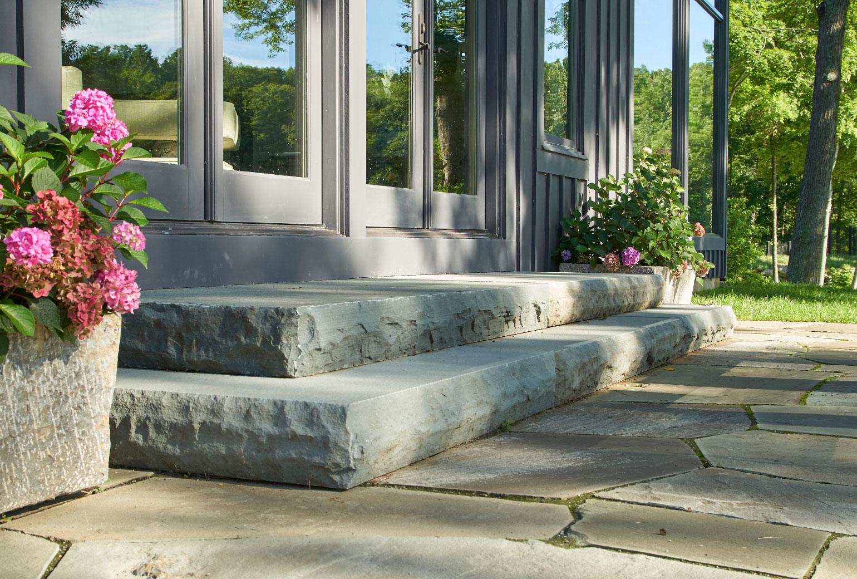 Bluestone Rockface Steps